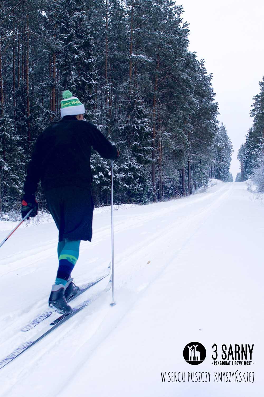 narty biegowe w Puszczy Knyszyńskiej
